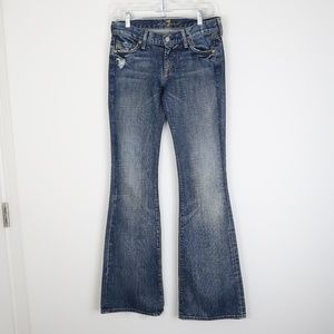 7 For All Mankind Distressed Flare Jeans 25/0